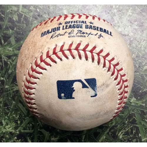 Photo of Game-Used Baseball WSH@MIL 05/07/19 - Stephen Strasburg - Yasmani Grandal (Strikeout) & Ben Gamel (Single)