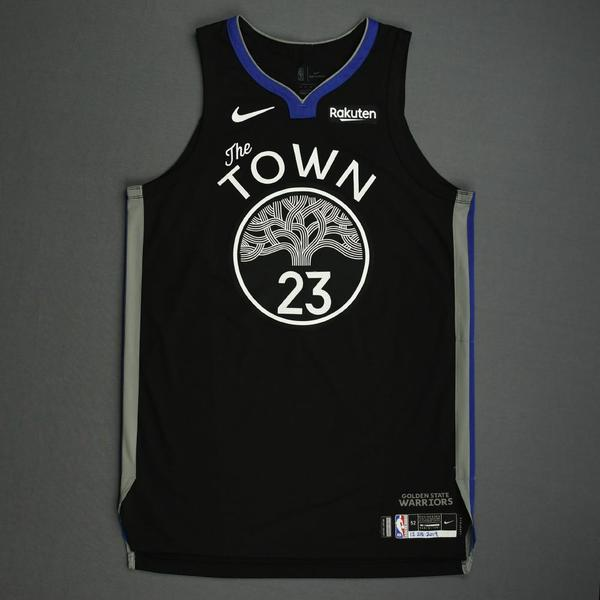 Image of Draymond Green - Golden State Warriors - Christmas Day' 19 - Game-Worn City Edition Jersey - Double-Double