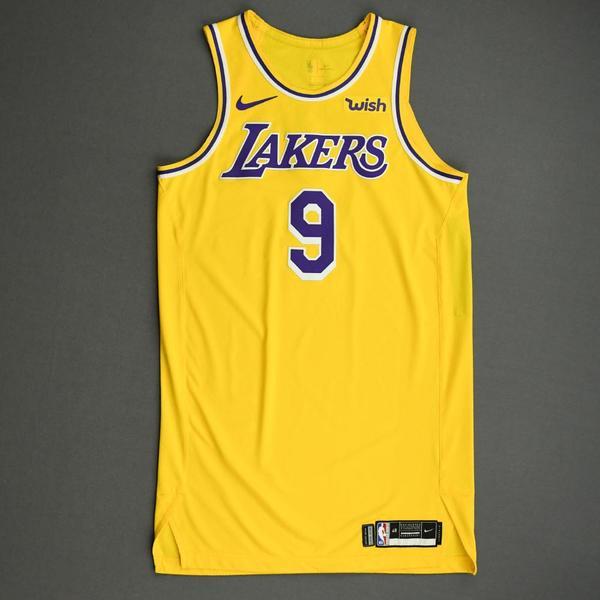 Image of Rajon Rondo - Los Angeles Lakers - NBA China Games - Game-Worn Icon Edition Jersey - 2019-20 NBA Season