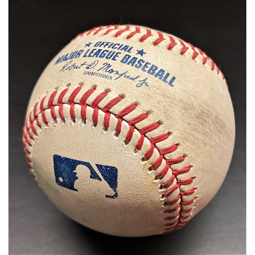 Photo of Game-Used Baseball: Domingo Santana Cleveland Indians 3-Run Home Run (MLB AUTHENTICATED)