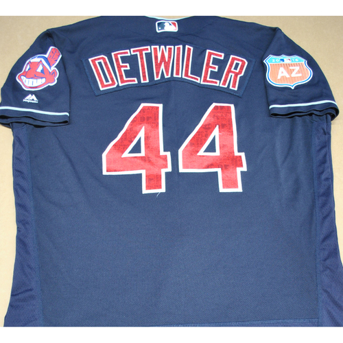 Game-Used 2016 Spring Training Jersey - Ross Detwiler - Size 48 - Cleveland Indians