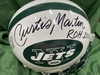 PCC - Jets Curtis Martin Signed Official Full Size Helmet w/ Inscriptions (benefitting the Marty Lyons Foundation)