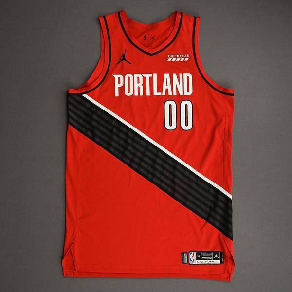 Image of Carmelo Anthony - Portland Trail Blazers - Game-Worn Statement Edition Jersey - 2021 NBA Playoffs