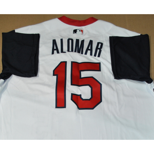 Photo of Game-used Jersey - 2021 Little League Classic - Los Angeles Angels vs. Cleveland Indians - 8/22/2021 - Great Lakes, Player Name: Sandy Alomar Jr. #15