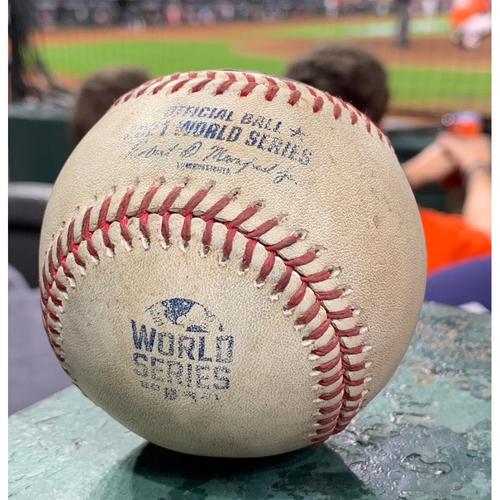 Photo of 2021 World Series - Atlanta Braves vs. Houston Astros - Game 2 - Pitcher: Max Fried, Batter: Alex Bregman - Bot 1, Sac Fly, Jose Altuve Scores