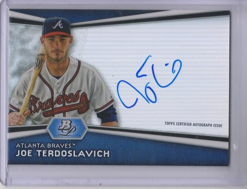 Photo of 2012 Bowman Platinum Prospect Autographs #JT Joe Terdoslavich