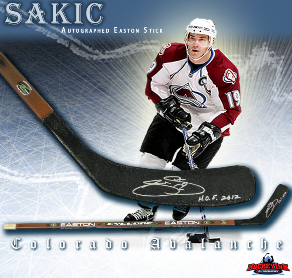 JOE SAKIC Signed Composite Easton Stick with HOF - Colorado Avalanche
