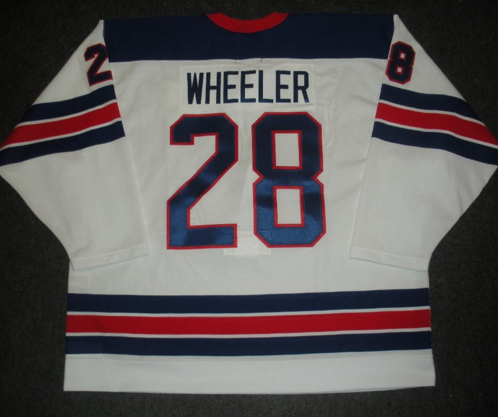 Blake Wheeler - Sochi 2014 - Winter Olympic Games - Team USA Throwback Game-Worn Jersey - Worn in 2nd and 3rd Periods vs. Slovenia, 2/16/14