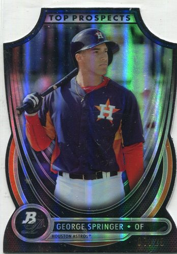 Photo of 2013 Bowman Platinum Top Prospects Die Cuts #GSP George Springer 07/25