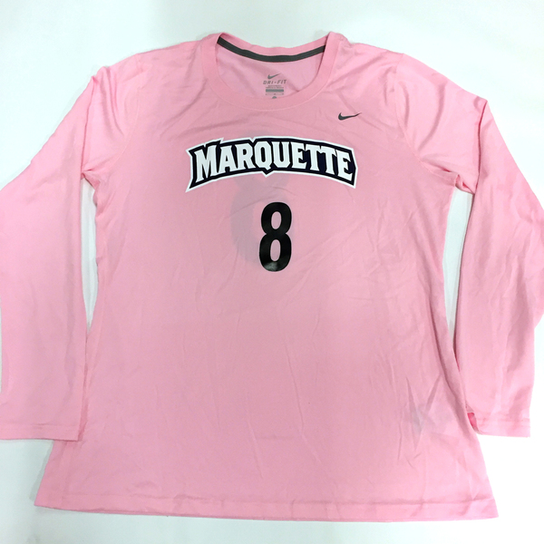 Photo of 2017 Marquette Women's Soccer 'Kick for a Cure' Jersey #8 (Size L)