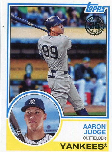 Photo of 2018 Topps '83 Topps #8324 Aaron Judge