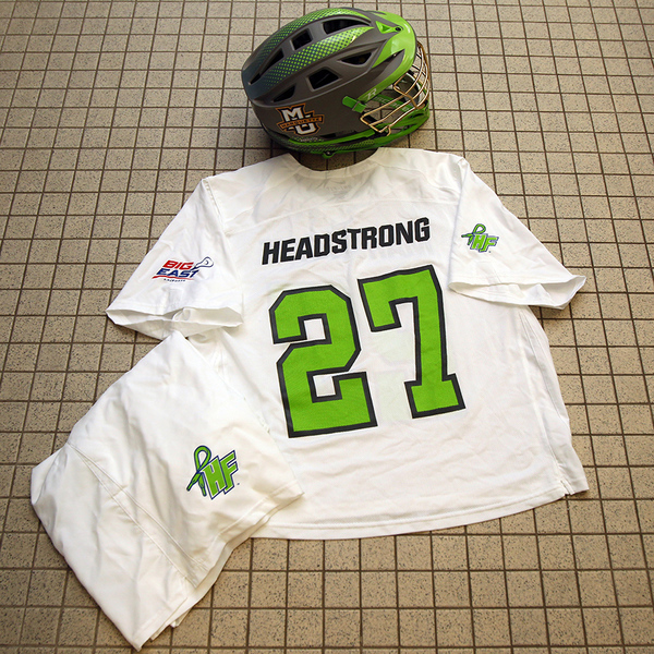 Photo of 2015 Game-Worn Marquette Lacrosse HEADstrong Uniform #33 (Size XL)