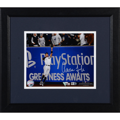 "Photo of Aaron Judge New York Yankees Framed Autographed 8"" x 10"" 2017 ALCS Game 3 Wall Catch Photo"