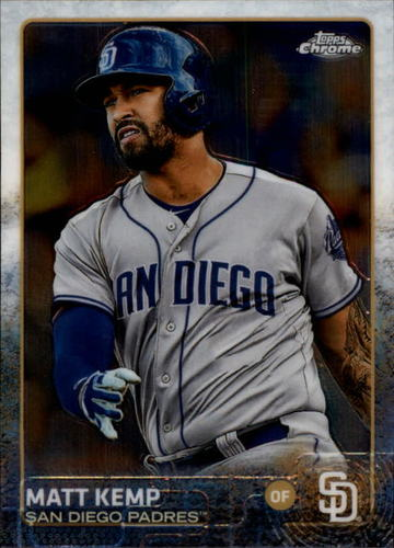 Photo of 2015 Topps Chrome #35 Matt Kemp