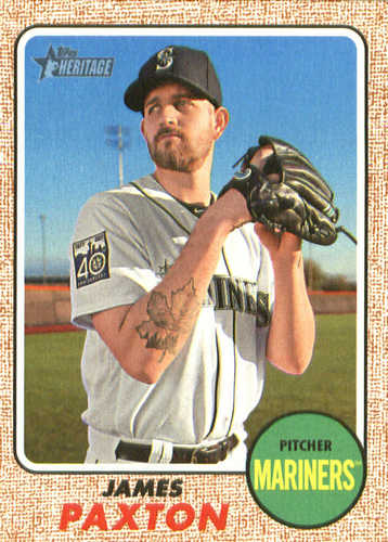 Photo of 2017 Topps Heritage #546 James Paxton