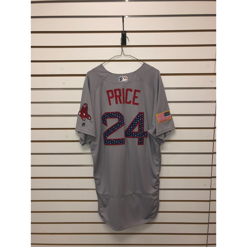 Photo of David Price Team-Issued 2018 Stars and Stripes Jersey