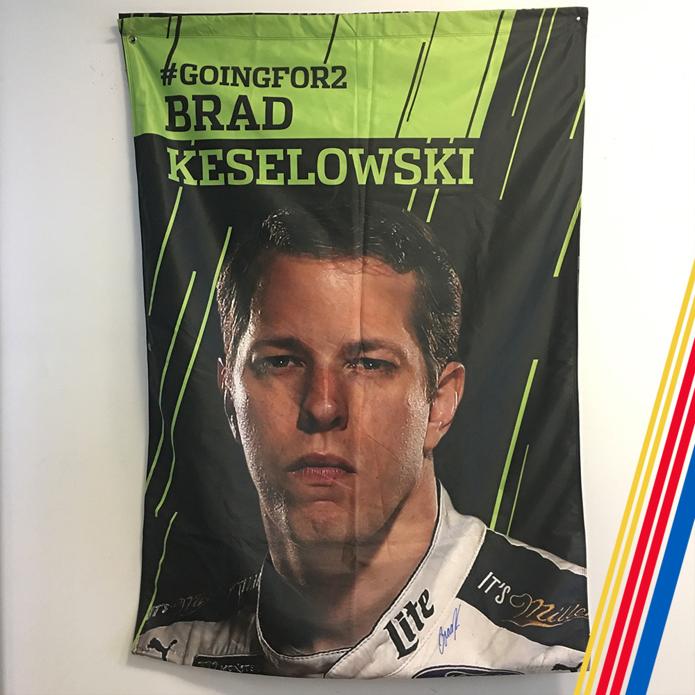NASCAR's Brad Keselowski Autographed Banner!
