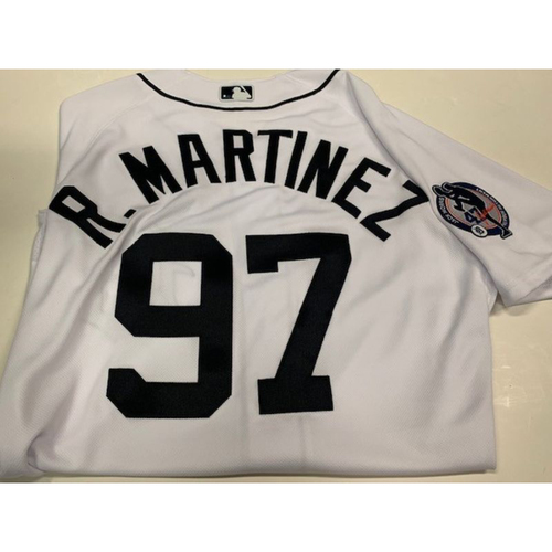 Photo of Team-Issued Jack Morris Number Retirement Jersey: R. Martinez