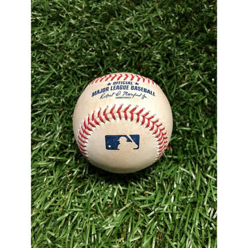 Photo of Game Used Baseball: Ji-Man Choi RBI single off Yoshihisa Hirano - May 7, 2019 v ARI