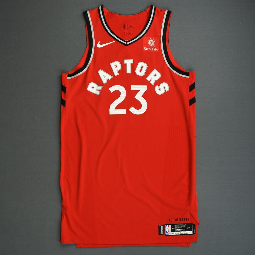 Fred VanVleet - Toronto Raptors - 2018-19 Season - Canada Series - Game-Worn Red Icon Edition Jersey