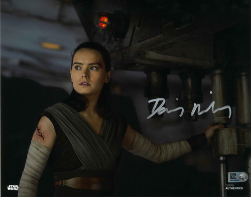 Daisy Ridley As Rey 8X10 Autographed IN 'SILVER' INK PHOTO
