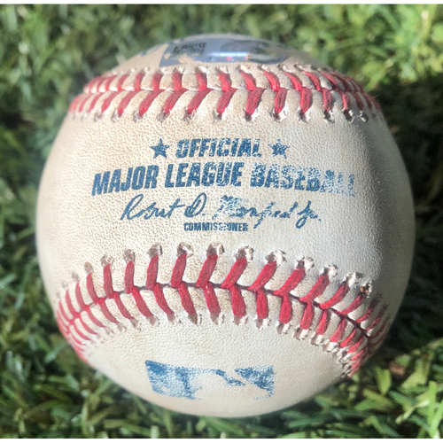 Photo of Game-Used Baseball - David Peralta Single & RBI - 8/7/19 vs. Jason Vargas