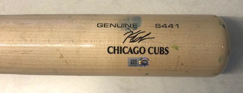Photo of 12 Days of Auctions: Day 6 -- Kyle Schwarber Game-Used Cracked Bat -- Michael Feliz to Kyle Schwarber, Foul Ball, Bot 7 -- Pirates vs. Cubs -- 7/12/19