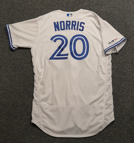 Photo of Authenticated Team Issued 2019 Jersey - #20 Bud Norris. Size 48.