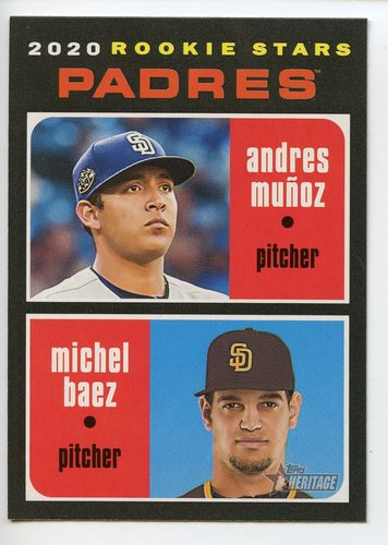 Photo of 2020 Topps Heritage #262 Andres Munoz RC/Michel Baez RC