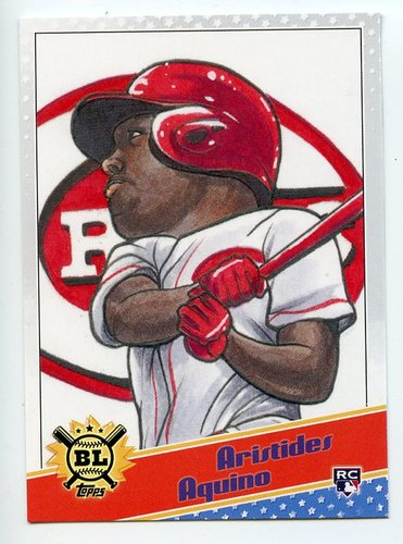 Photo of 2020 Topps Big League Star Caricature Reproductions #SCOAA Aristides Aquino