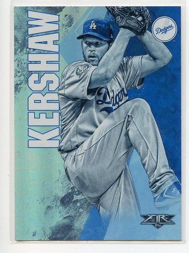 Photo of 2019 Topps Fire Blue #52 Clayton Kershaw