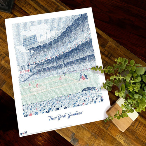 Photo of Yankee Stadium Art Print by Dan Duffy, Art of Words- New York Yankees