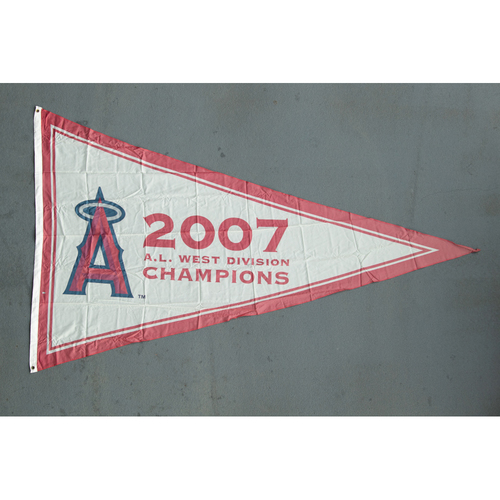 Photo of Los Angeles Angels 2007 American League West Division Champions Team-Issued Pennant