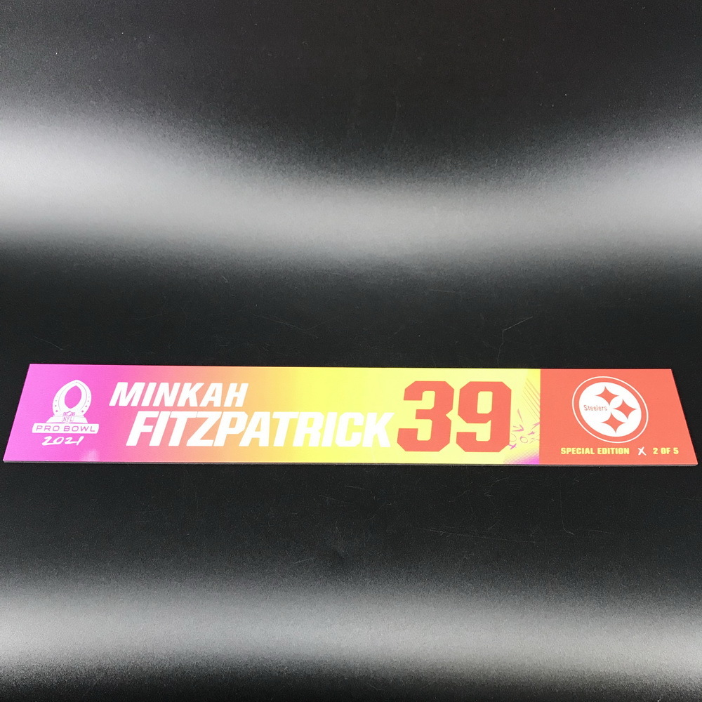 NFL - Steelers Minkah Fitzpatrick 2021 Pro Bowl Locker Nameplate Special Edition #2 of 5