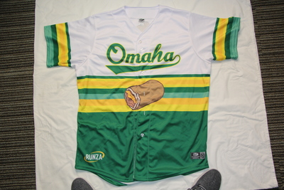 Autographed Omaha Runzas #35 Gabe Speier Jersey