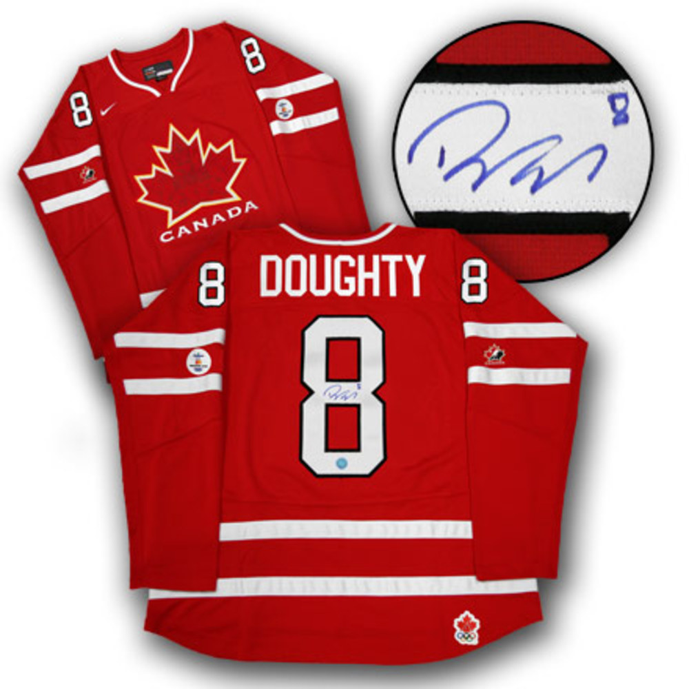 DREW DOUGHTY 2010 Team Canada SIGNED Olympic Hockey Jersey