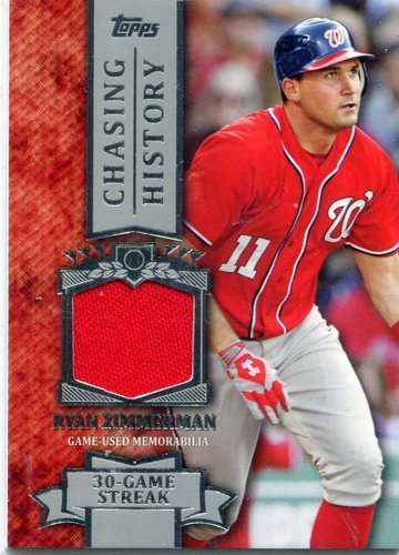 Photo of 2013 Topps Chasing History Relics #RZ Ryan Zimmerman