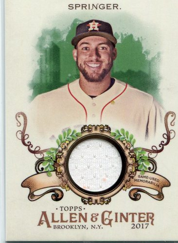 Photo of 2017 Topps Allen and Ginter Relics  George Springer Jersey