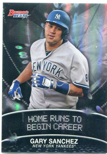 Photo of 2016 Bowman's Best Stat Lines #SLGS Gary Sanchez