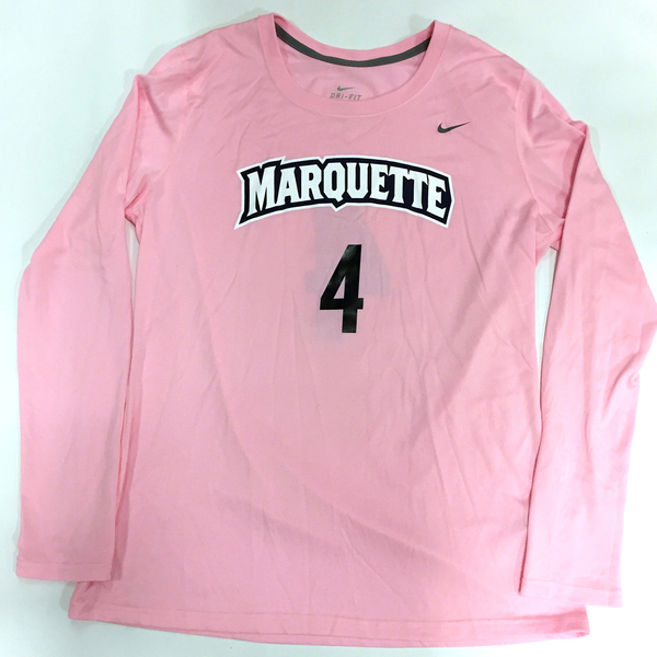 Photo of 2017 Marquette Women's Soccer 'Kick for a Cure' Jersey #4 (Size L)