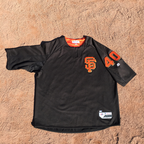 San Francisco Giants - 2017 Game-Used Batting Practice Jersey Worn by #40 Madison Bumgarner (Size: 2XL)