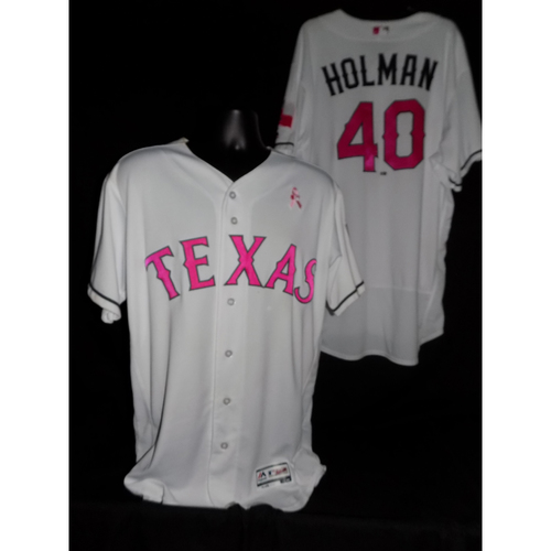 Brad Holman 2017 Game-Used Mother's Day Jersey