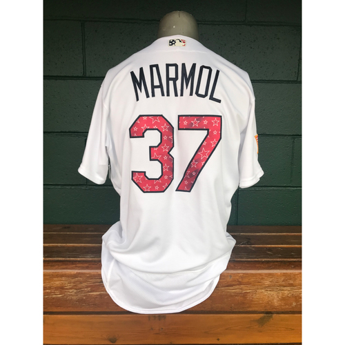 Photo of Cardinals Authentics: Oliver Marmol Game Worn Stars and Stripes Jersey