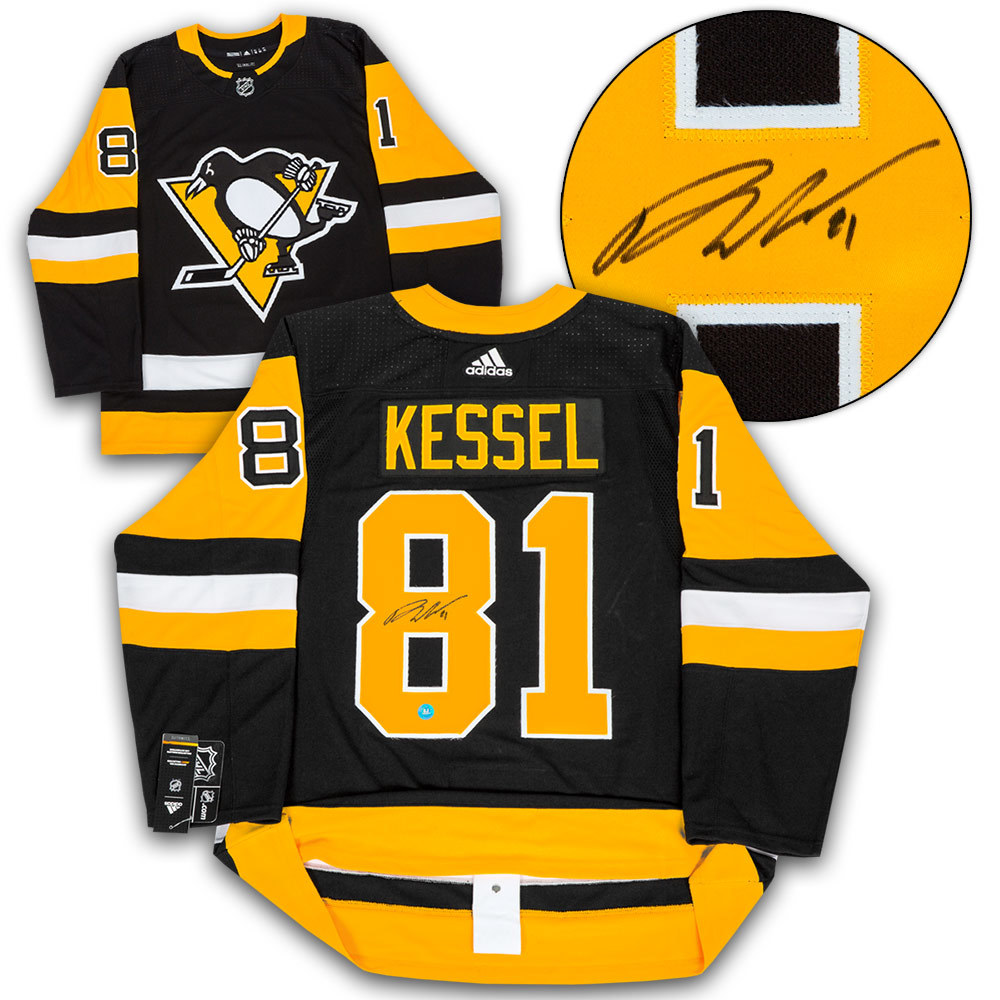 Phil Kessel Pittsburgh Penguins Autographed Adidas Authentic Hockey Jersey