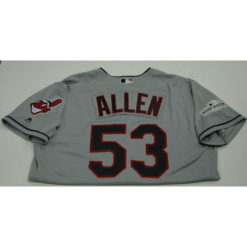 Photo of Greg Allen 2017 Team-Issued Postseason Road Jersey
