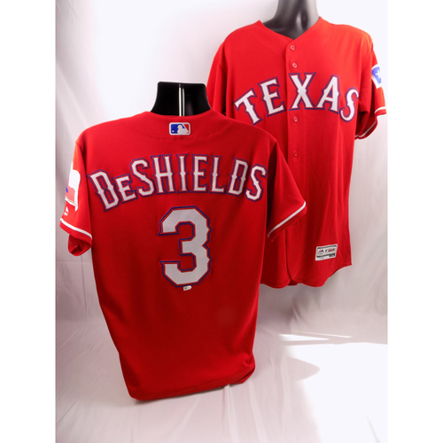 Photo of 9/19/18 - Game-Used Red Jersey - Delino DeShields