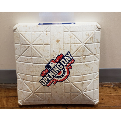 Photo of Game-Used Opening Day Base: New York Yankees at Detroit Tigers - 2nd Base Used in Innings 6-7 - 4/8/16