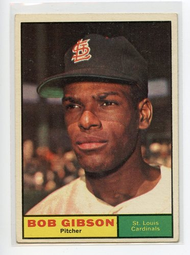 Photo of 1961 Topps #211 Bob Gibson -- Hall of Famer