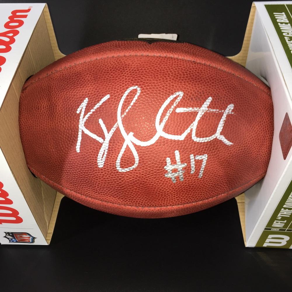 NFL - EAGLES KYLE LAULETTA SIGNED AUTHENTIC 'DUKE' FOOTBALL