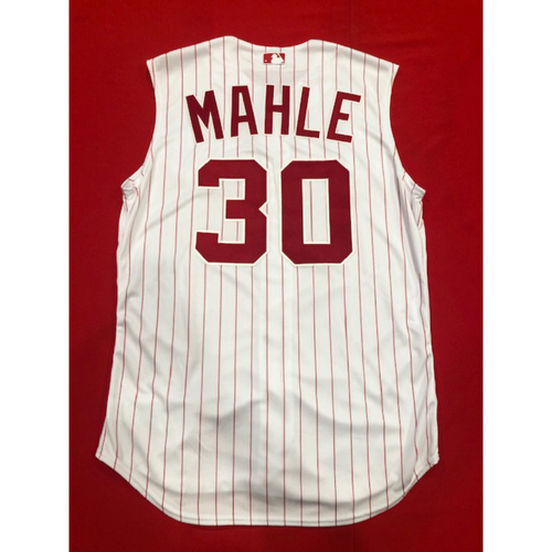 Photo of Tyler Mahle -- Game-Used 1995 Throwback Jersey & Pants -- D-backs vs. Reds on Sept. 8, 2019 -- Jersey Size 46 / Pants Size 36-39-33